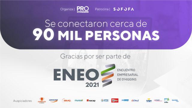 Cerca de 90 mil personas se conectaron en ENEO 2021